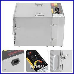 1000W Commercial Food Dehydrator 10 Tray Stainless Steel Fruit Meat Jerky Dryer