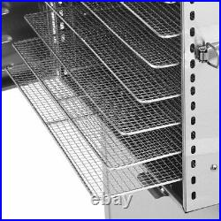 10 Layer Stainless Steel Food Dehydrator LED Light Fruit Vegetable Dryer Machine