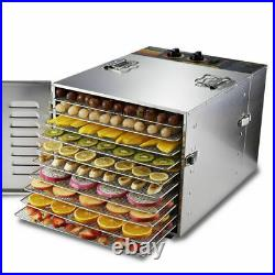 10 Layers Food Dryer Machine stainless steel Electric Fruit Vegetable Dehydrator