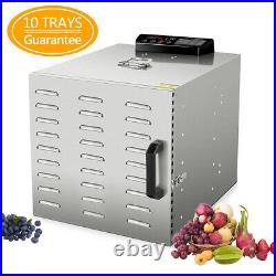 10 Tray 55L Stainless Steel Commercial Food Dehydrator Fruit Meat Jerky Dryer
