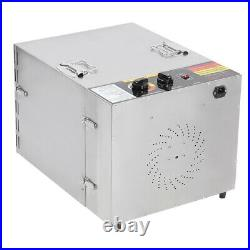 10 Tray Commercial Food Dehydrator Stainless Steel Fruit Meat Jerky Dryer 1000W