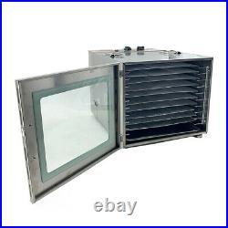 10 Tray Food Dehydrator 60L Fruit Meat Herb Dryer Machine Stainless Steel 1000W