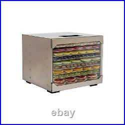 10 Tray Food Dehydrator Stainless Steel Fruit Jerky Meat Herb Dryer Machine