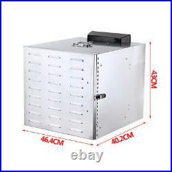 10 Trays Electric Food Dehydrator Machine Commercial Fruit Jerky Beef Meat Dryer