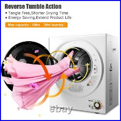 10lbs Wall Mounted Household Stainless Steel Compact Electric Clothes Dryer Home