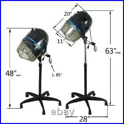 1300W Adjustable Hooded Floor Salon Hair Bonnet Dryer Stand Up WithWheels