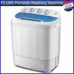 13 LBS Mini Compact Portable Washing Machine Twin Tub Laundry Spin Dryer Washer