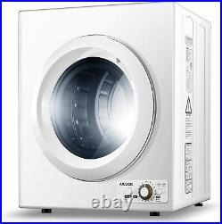 1400W Compact Laundry Dryer Portable 9 lbs Stainless Steel Tub 2.65 Cu Ft