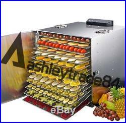 15 Tray Chef Food Dehydrator Commercial Fruit Dryer Maker Beef Jerky Preserver