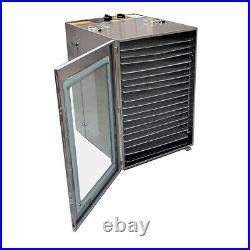 16 Trays Food Dehydrator Machine Beef Fruit Dryer Meat Jerky Herbs Dryer Home