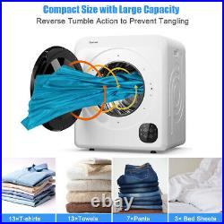1700W Electric Tumble Laundry Dryer Stainless Tub 13.2 lbs /3.22 Cu. Ft