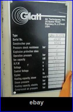 1983 Glatt UniGlatt Stainless Steel Constructed Fluid Bed Dryer Granulator
