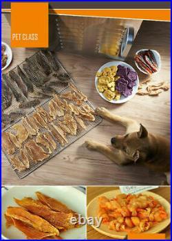 220V 10 Tray Food Dehydrator Fruit Dryer Veg Meat Jerky Dryer Blower Commercial
