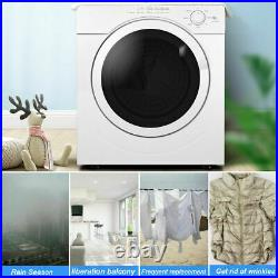 27lbs Electric Tumble Compact Laundry Dryer Stainless Steel 3.21 Cu. Ft