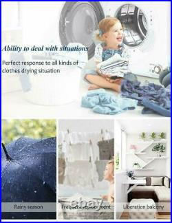 2.65 Cu. Ft Electric Compact Laundry Dryer Capacity Portable Clothes Dryer 9 LBS