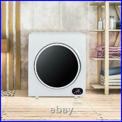 2.6Cu. Ft Portable Electric Compact Laundry Dryer 4KGS Capacity Stainless Steel