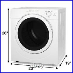 3.21 Cu. Ft. Electric Tumble Compact Laundry Dryer Stainless Steel for Home Dorm