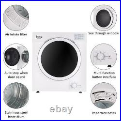 3.2Cu. Ft Portable Electric Compact Laundry Dryer 12LBS Capacity Stainless Steel