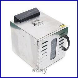400W Electric Food Dryer Dehydrator Machine Fruit Beef Jerky 8Tray Timer Control