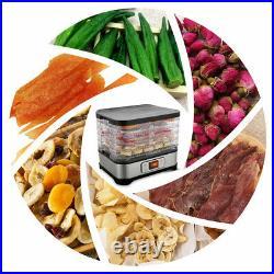 5/6-Trays Food Dehydrator Machine Electric Multi Tier Fruit Vegetable Preserver