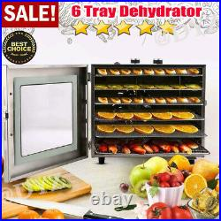 5 /8 Trays Electric Food Dehydrator Machine Home-Use Fruit Jerky Beef Meat Dryer