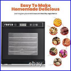 600W Commercial Food Dehydrator 6 Tray Stainless Steel Fruit Meat Jerky Dryer