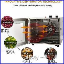 6Tier Stainless Food Dehydrator Machine for Jerky Meat Fruit Jerky Maker Dryer