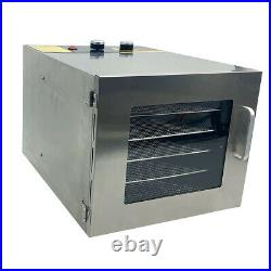 6/10 Tray Commercial Food Dehydrator Stainless Steel Fruit Meat Beef Jerky Dryer