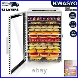 6/12 Trays Stainless Steel Commercial Food Dehydrator Beef Jerky Fruit Dryer-NEW