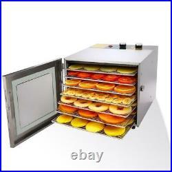 6-5Tier Food Dehydrator Stainless Steel Fruit Jerky Meat Dryer Blower Commercial