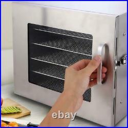 6/5Tier-Food^Dehydrator Stainless Steel Fruit Jerky Meat Dryer Blower-Commercial