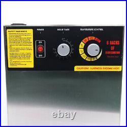 6-Tier Electric Food Dehydrator Fruit Dryer Meats Preserver Stainless Steel