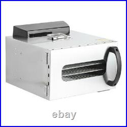 6 Tray Digital Electric Food Dehydrator Stainless Fruit Dryer Vegetable Jerky