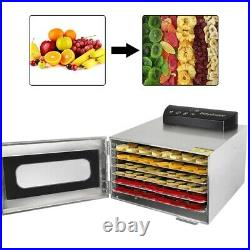 6 Tray Digital Electric Food Dehydrator Stainless Fruit Dryer Vegetable Jerky US