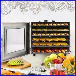 6 Tray Electric Food Dehydrator Beef Jerky Snack Machine Fruit Dryer Maker NEW