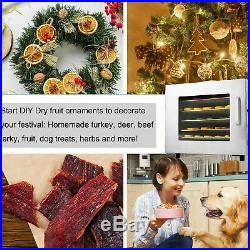 6 Tray Electric Food Dehydrator Beef Jerky Snack Machine Fruit Dryer Maker USA