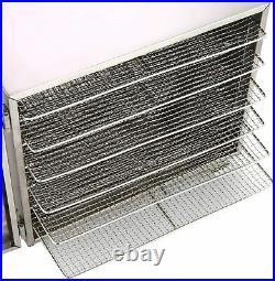 6 Trays Food Dehydrator Machine Stainless Steel Fruit Jerky Beef Meat Dryer NEW