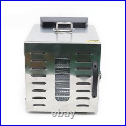 8Trays Electric Food Dehydrator Machine Fruit Dryer Beef Meat 400W Digital Timer