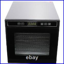 8Trays Electric Food Dehydrator Machine Tier Fruit Beef Maker Dryer Digital Time