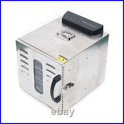 8 Tray Digital Electric Food Dehydrator Stainless Fruit Dryer Vegetable Jerky US