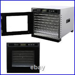 8 Tray Electric Food Dehydrator Machine Tier Fruit Beef Maker Dryer Digital Time