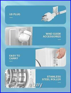 AICOOK 1400W Compact Laundry Dryer, 9 lbs Portable Dryer with Stainless Steel Tu