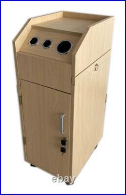 Ara Beauty Salon Trolley Storage Cart Hair Dryer Holder Locking Door Styling