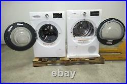 Bosch 800 Series WHT & Chrome Washer + Dryer Set WAT28402UC / WTG86402UC