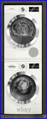Bosch 800 Series White Chrome Washer / Dryer Set WAT28402UC / WTG86402UC