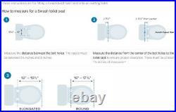 Brondell Swash SE400 Elongated Bidet Seat with Air Dryer White New