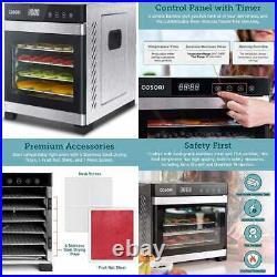 COSORI Food Dehydrator Machine Stainless Steel Digital Dryer W Recipe Book Count