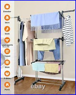 Clothes Drying Rack Tower, Clothes Dryer Large, Stainless Steel Mobile
