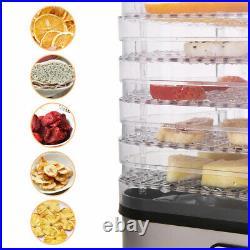 Commercial 5/6/7/8 Tray Stainless Steel Food Dehydrator Fruit Meat Jerky Dryer