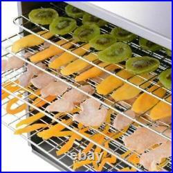 Commercial Food Dehydrator 10 Tray Stainless Steel 55L Fruit Meat Jerky Dryer